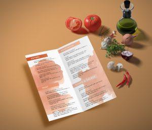 impression menu restaurant