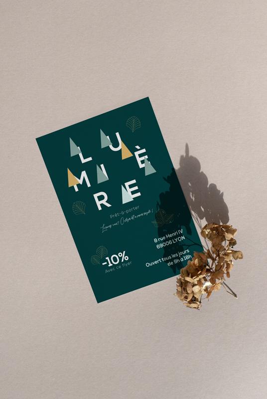 impression flyer papier recyclé