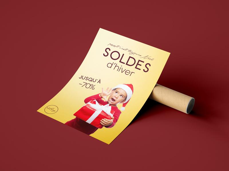 impression flyer personnalisé soldes d'hiver