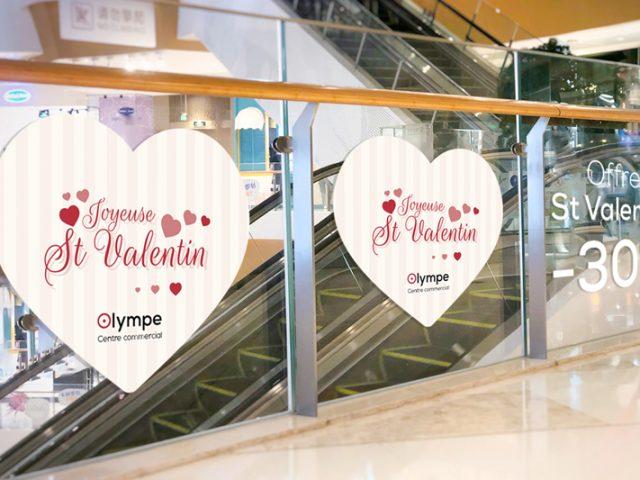 Décorez votre vitrine pour la Saint-Valentin