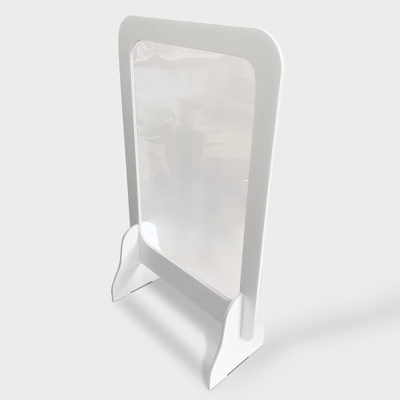 protection de comptoir blanche