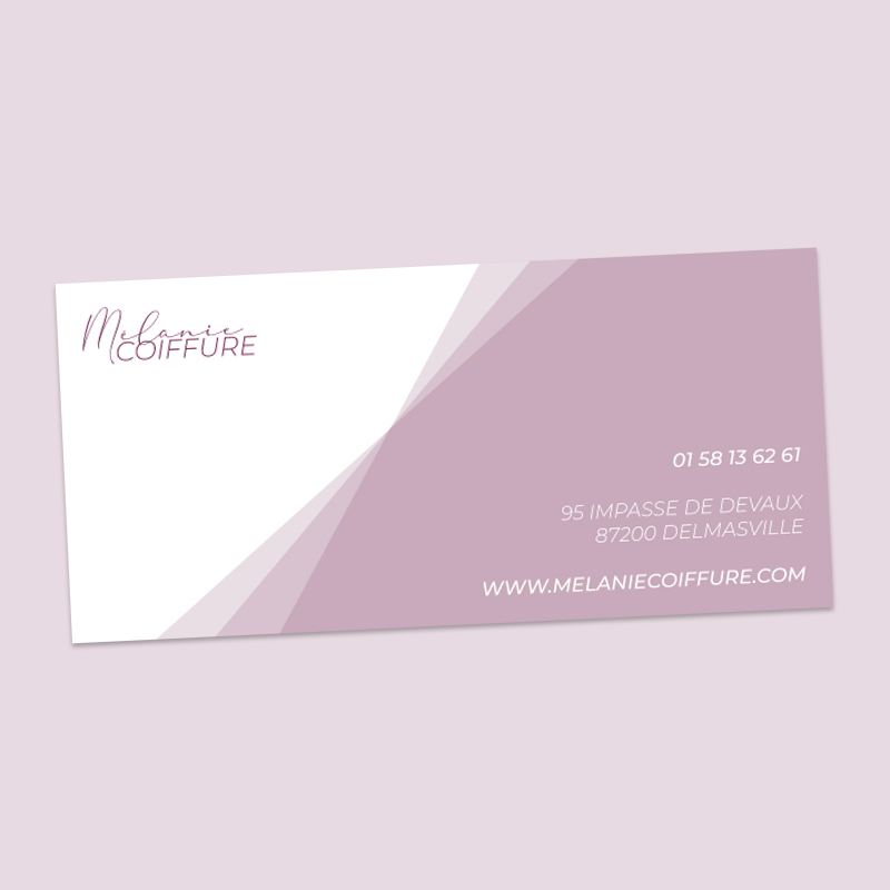 impression carte de correspondance coiffure