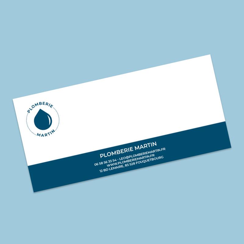 carte de correspondance plombier