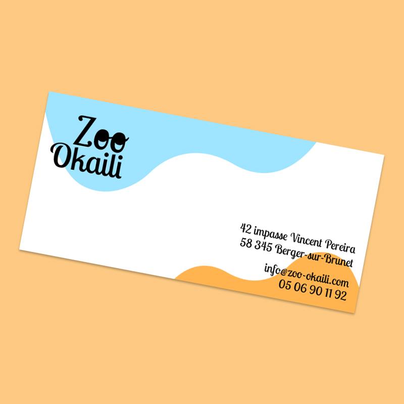 carte de correspondance zoo